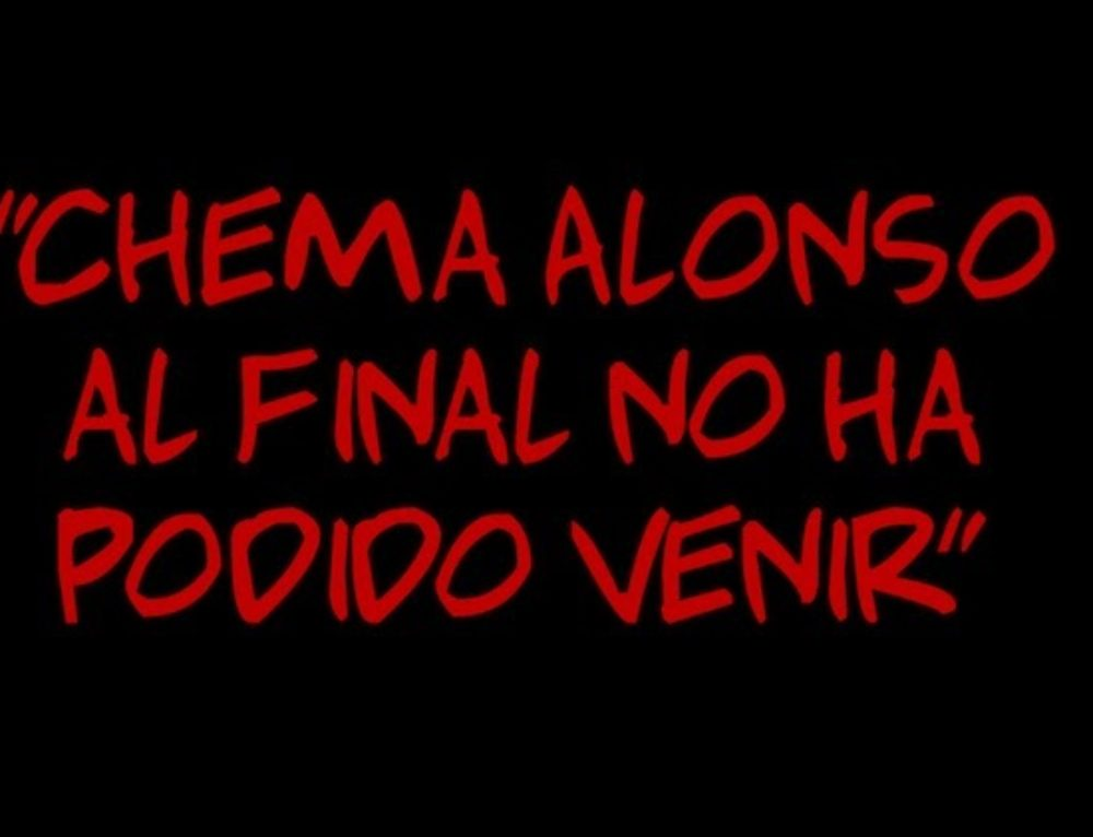 """""""Chema Alonso al final no ha podido venir"""""""