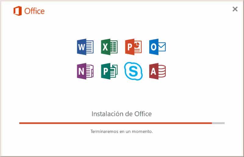 installacion office 2016