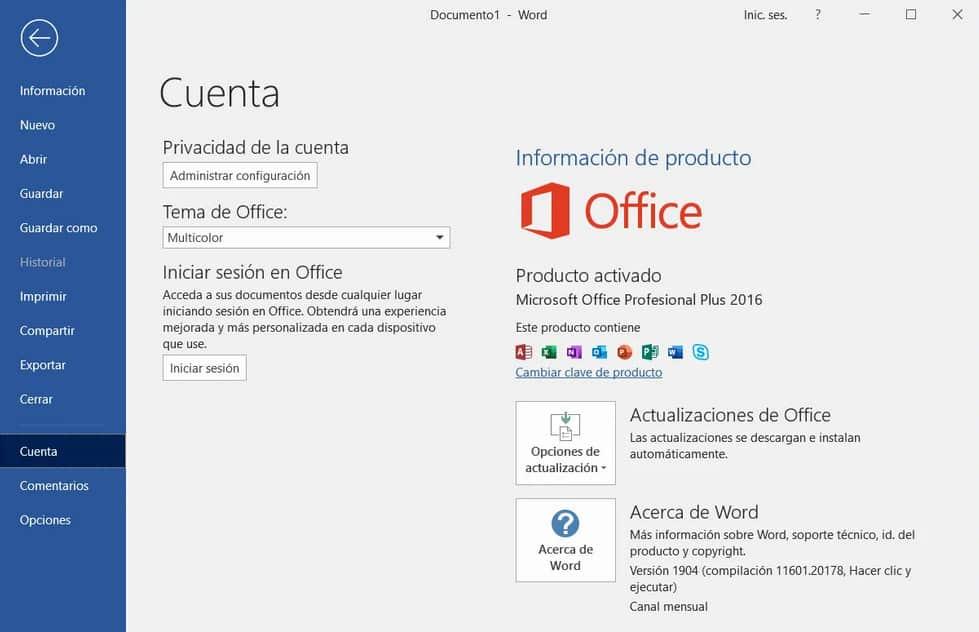 Activar Office 2016 Professional Plus