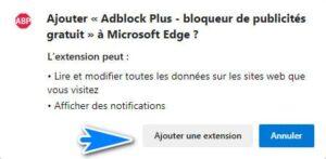 Anadir extension Adblock en Edge