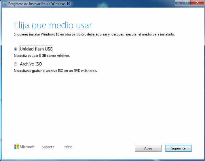 Crear unidad Flash USB
