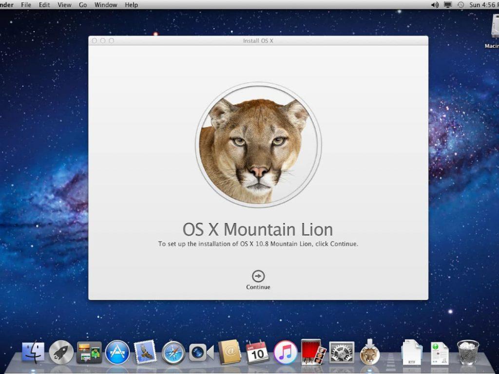Descargar Mac OS X Mountain Lion ISO DMG