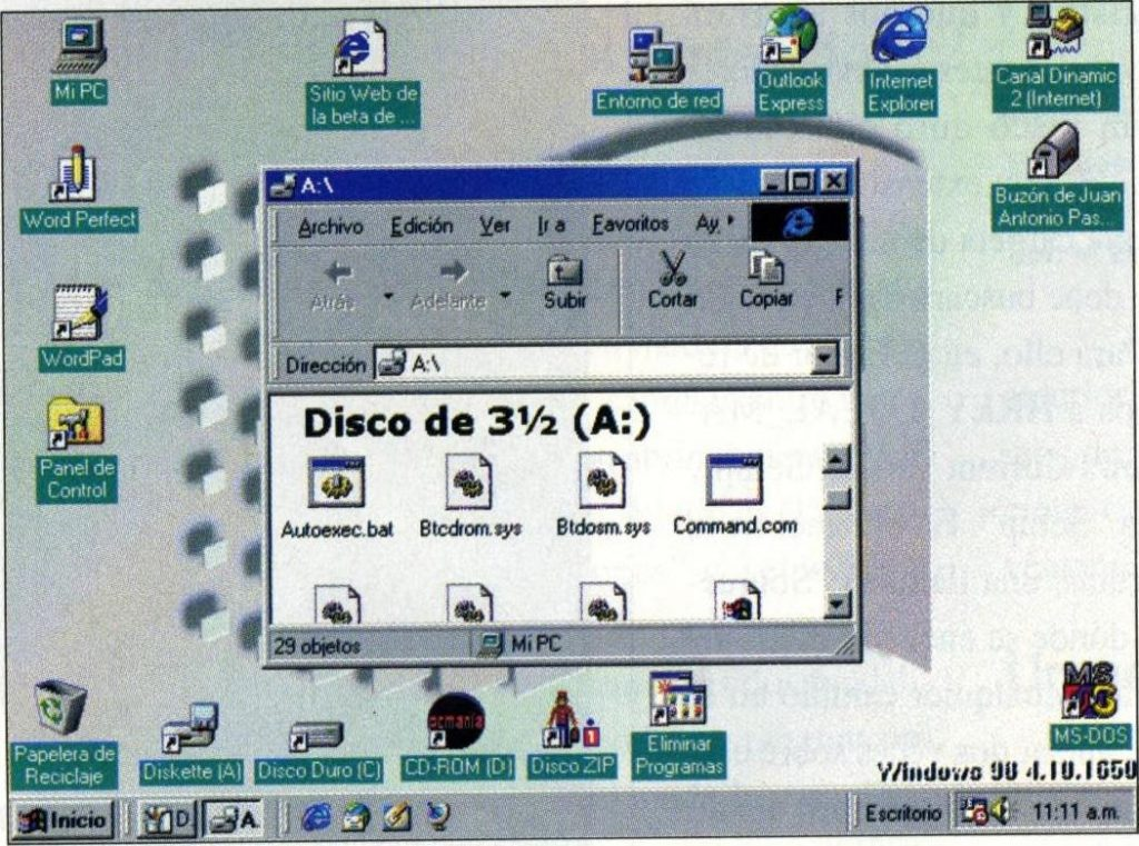 Descargar Windows 98 ISO en espanol