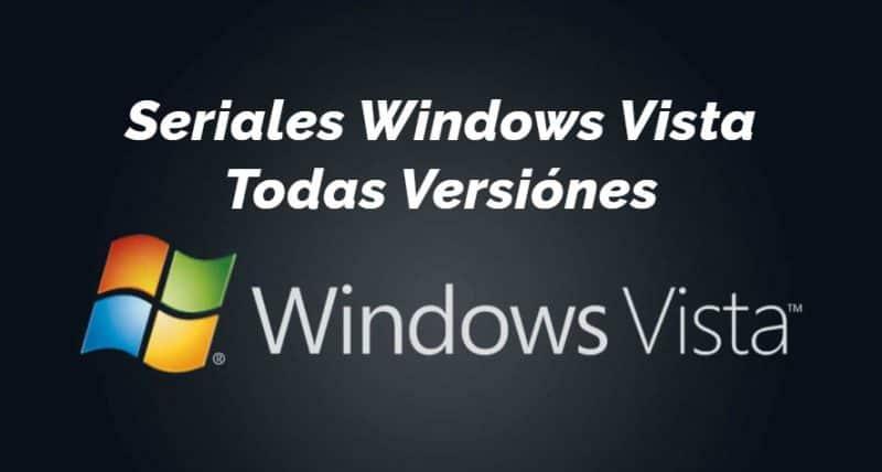 Seriales para Windows Vista