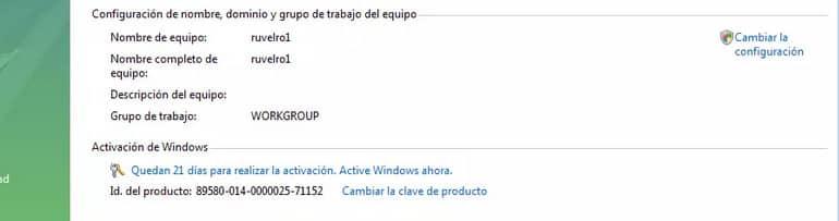 Windows Vista no activado