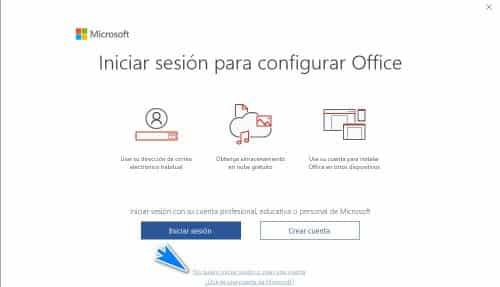 iniciar sesion para configurar Office
