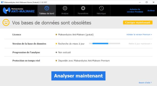 screen malwarebyte