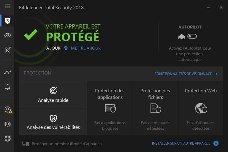 Bitdefender Total Security 2018 Protection antivirus