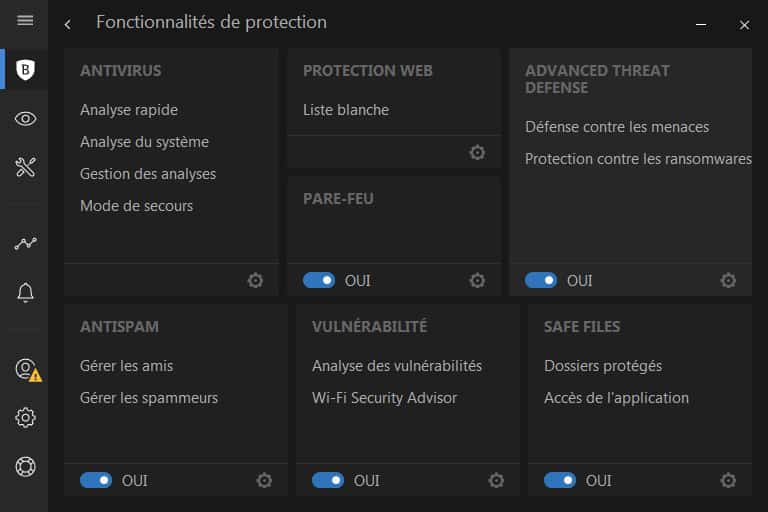 Bitdefender Total Security 2018 multiple protection