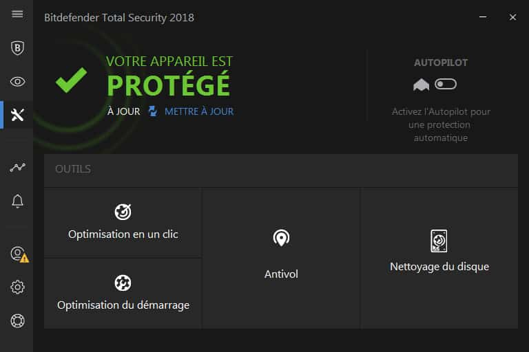 Bitdefender Total Security 2018 optimisation ordinateur