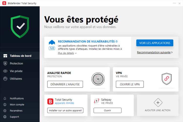 FR dashboard 1 750x500 - Bitdefender Total Security