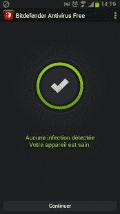 Bitdefender-android-interface