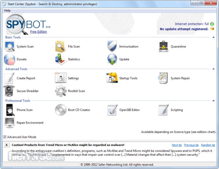 spybot search destroy gratuit