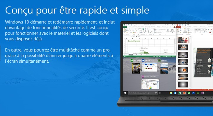 Mise à jour gratuite Windows 10  Mise à jour gratuite Windows 10
