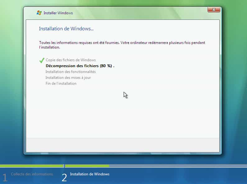 install vista 2 3 - Télécharger et Installer Windows Vista