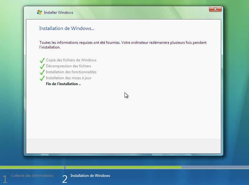 Telecharger Vista ISO et installer