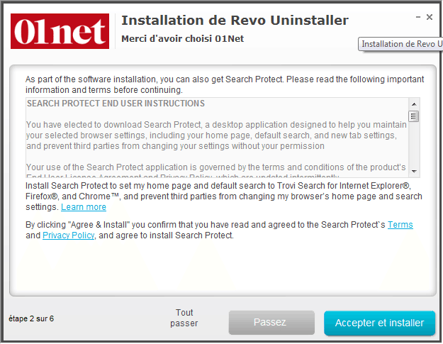 UNINSTALLER 01NET REVO TÉLÉCHARGER