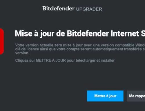 Bitdefender certifié compatible Windows 10