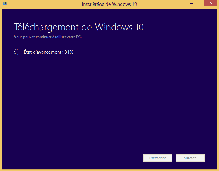 mise a niveau windows 10 3