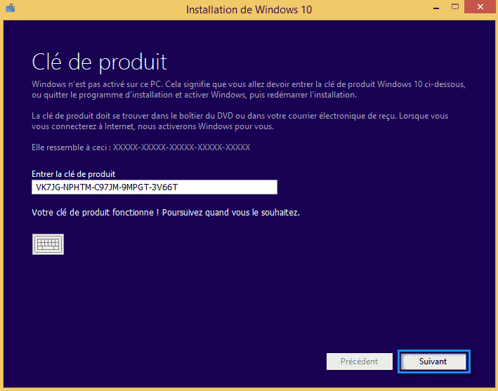 mise a niveau windows 10 8