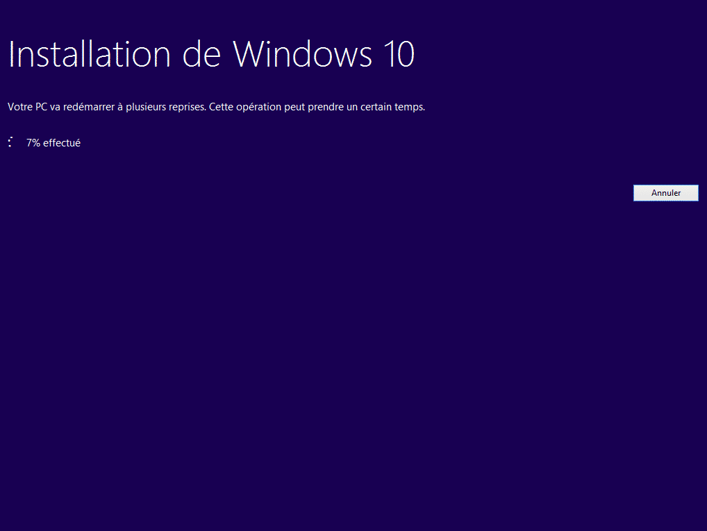 mise a niveau windows 10 92