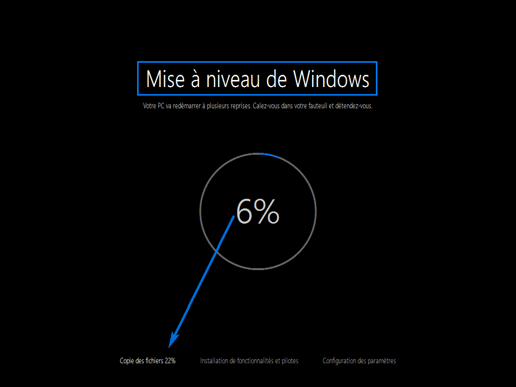 mise a niveau windows 10 96