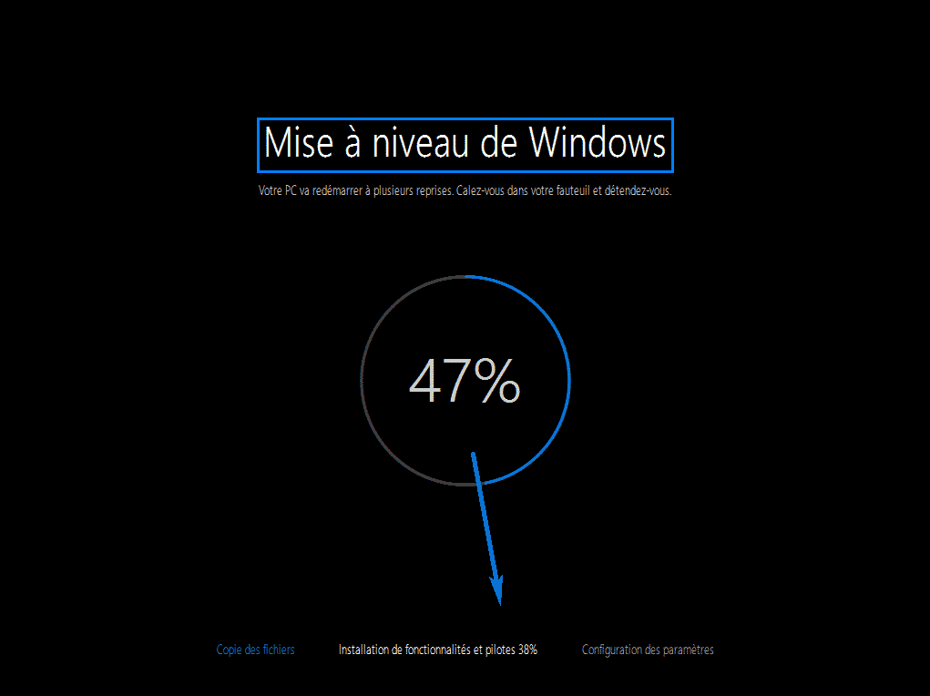 mise a niveau windows 10 97