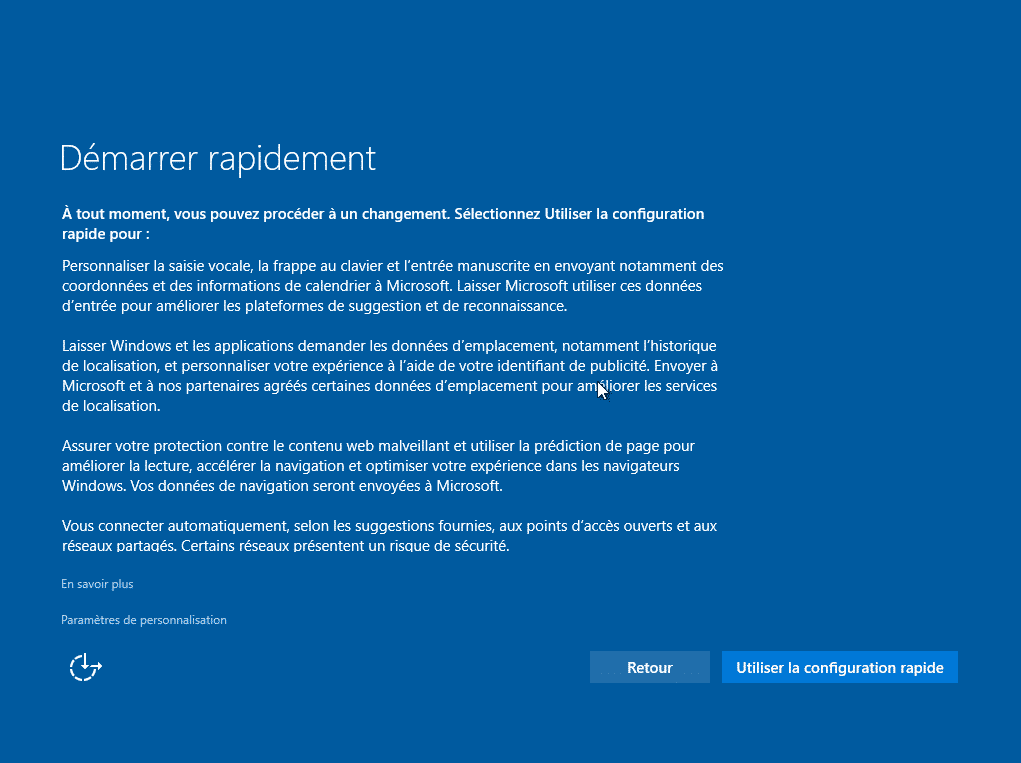 mise a niveau windows 10 991