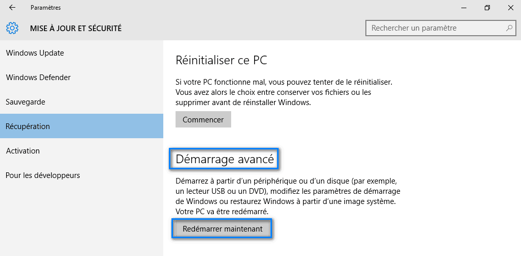 mode sans échec windows 10 3