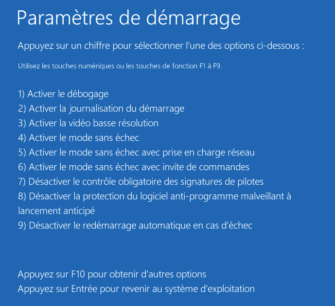 mode sans échec windows 10 8