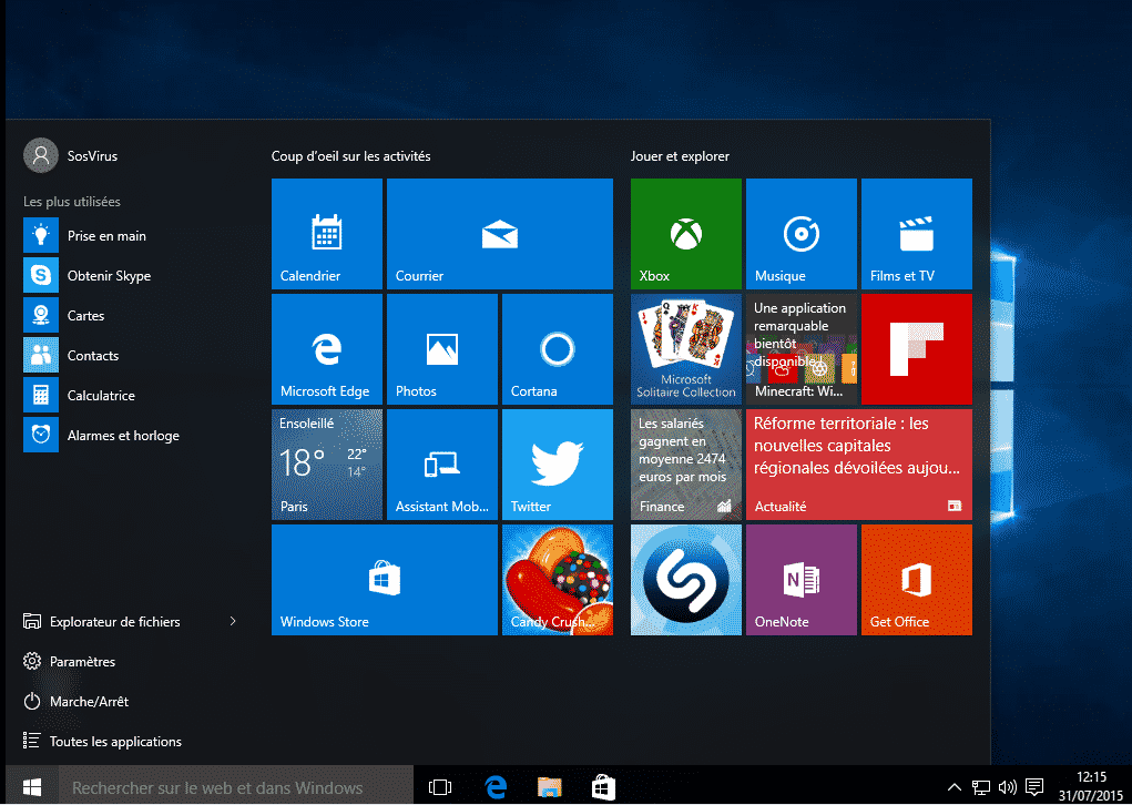 windows 10 bureau