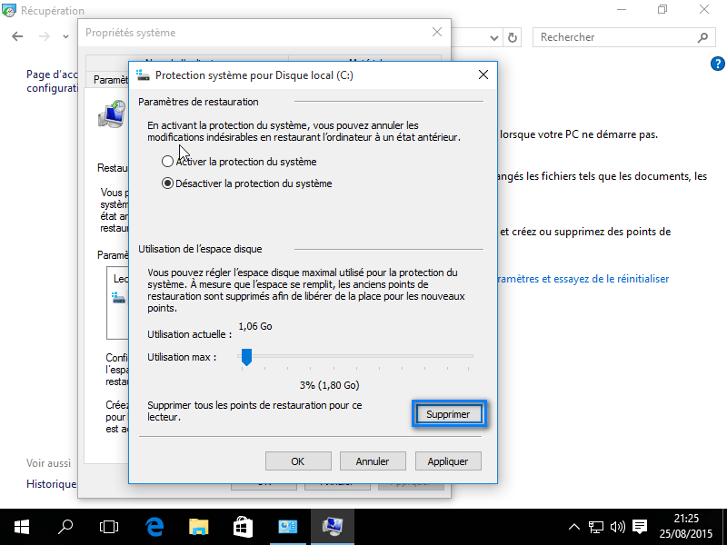Restauration systeme Windows 10 5