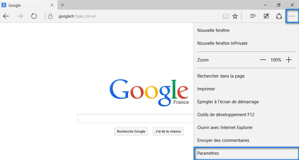 moteur de recherche par defaut sur microsoft edge