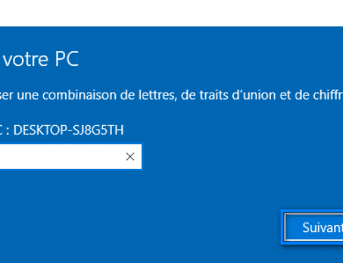 Changer le nom de l'ordinateur Windows 10
