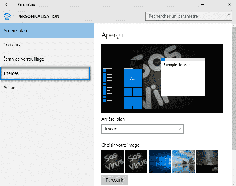 panneau de configuration Windows 10 5