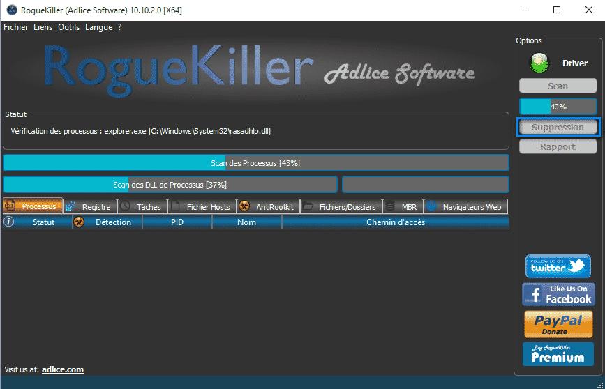 roguekiller-1 Supprimer DNS Unlocker
