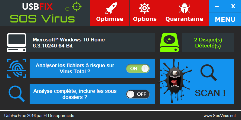 usbfix-2016-analyse-virus-total Tutoriel UsbFix 2016 - Listing du contenu USB