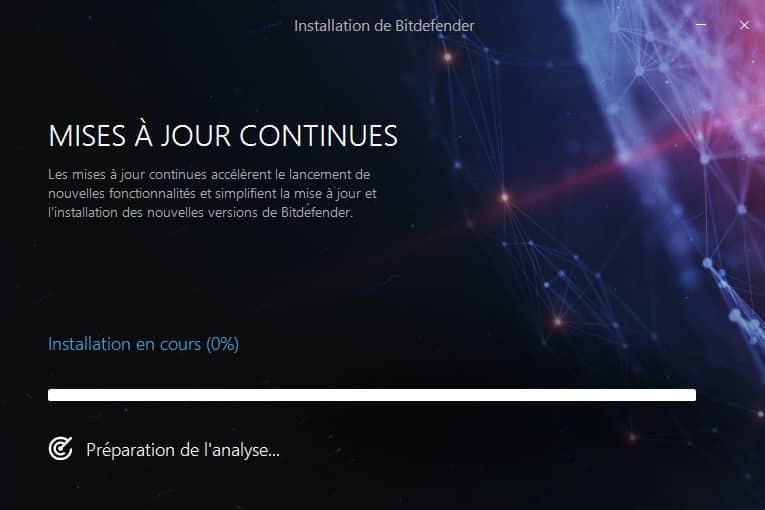 Bitdefender 2018 debut installation