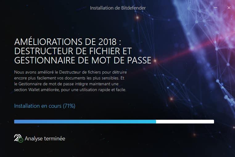 Bitdefender 2018 installation analyse