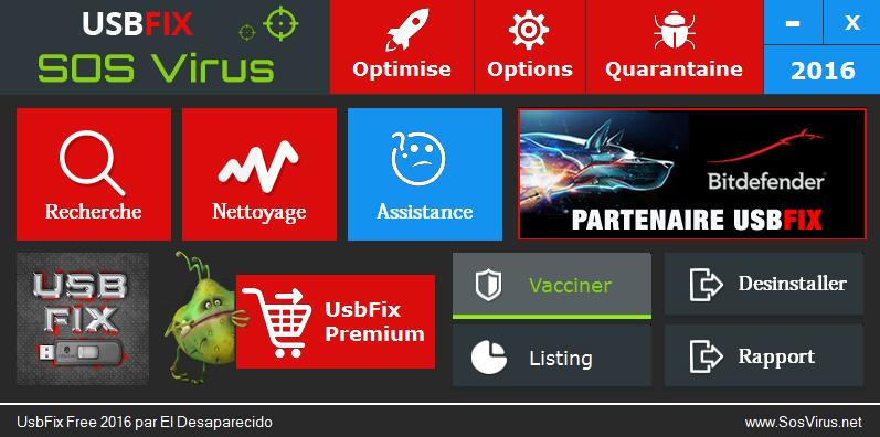 usbfix 2016 menu vaccin