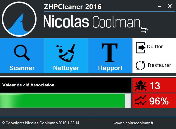 Nettoyer ZhpCleaner sos virus - Tutoriel ZHPCleaner