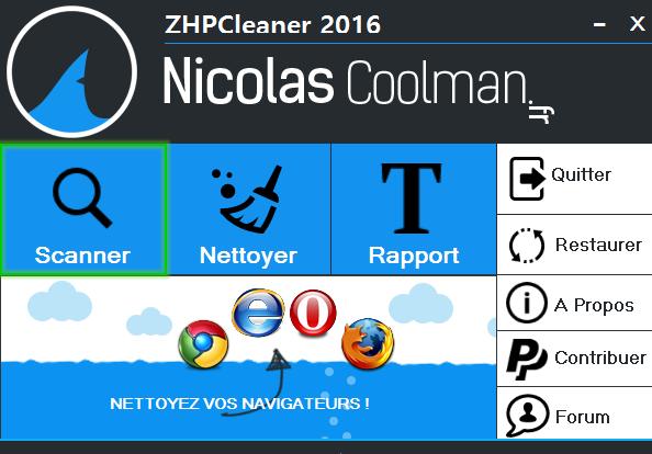 Scan ZhpCleaner sos virus - Tutoriel ZHPCleaner
