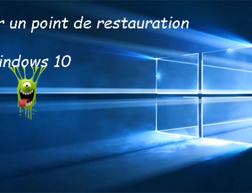 Créer un point de restauration sous windows 10