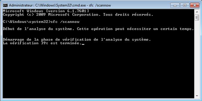 encoursseven - Comment réparer les fichiers système manquants ou endommagés sous Windows Seven ?