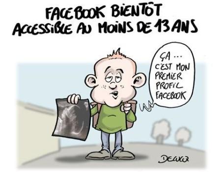 facebook acces enfant mineur