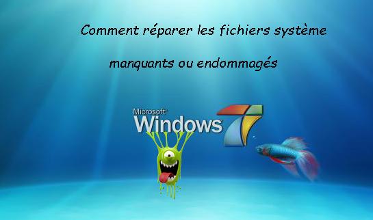 logoseven - Comment réparer les fichiers système manquants ou endommagés sous Windows Seven ?