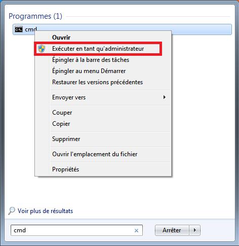 menuseven1 Comment réparer les fichiers système manquants ou endommagés sous Windows Seven ?