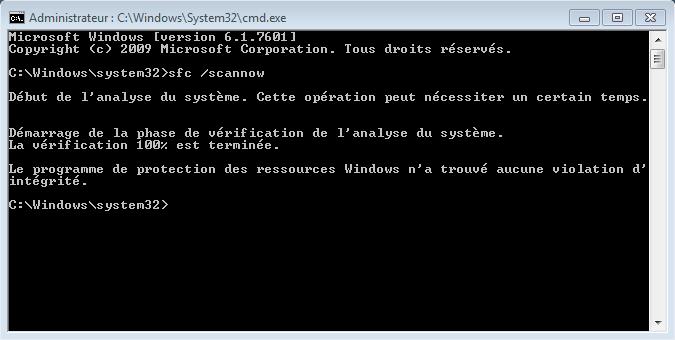 tuto6856d4 - Comment réparer les fichiers système manquants ou endommagés sous Windows Seven ?
