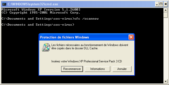 tuto6d843d - Comment réparer les fichiers système manquants ou endommagés sous Windows XP ?