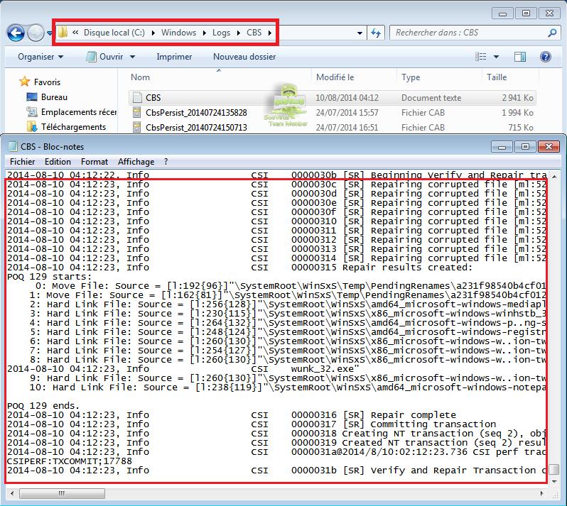 tuto87935b - Comment réparer les fichiers système manquants ou endommagés sous Windows Seven ?